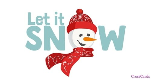 Let it Snow ecard, online card