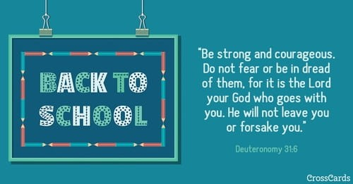 Back to School - Deut. 31:6 ecard, online card