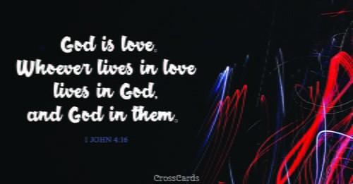 1 John 4:16 ecard, online card