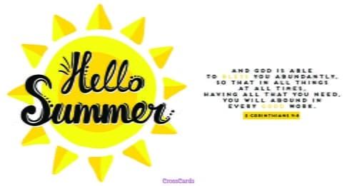 Hello Summer ecard, online card