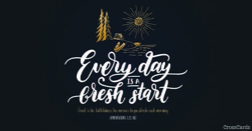 Fresh Start ecard, online card