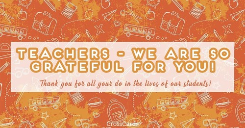 Thanks, Teachers!