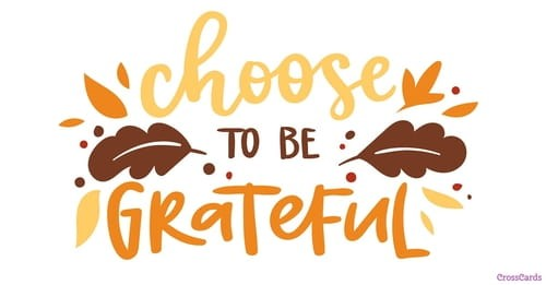 Choose Gratitude ecard, online card