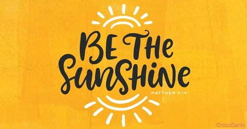 Be the Sunshine ecard, online card