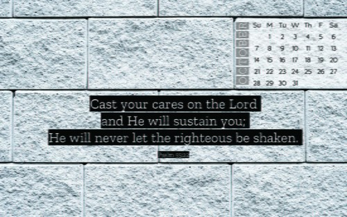 October 2018 - Psalm 55:22