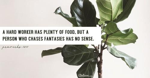 Proverbs 12:11