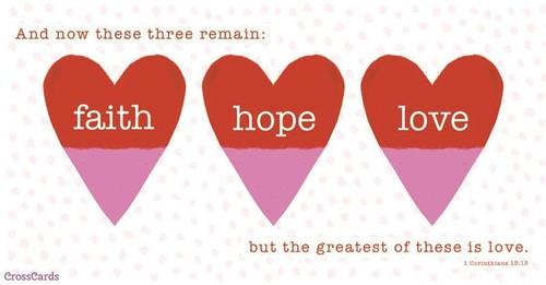 Faith, Hope, Love ecard, online card