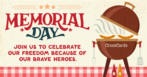 Memorial Day invite ecard, online card