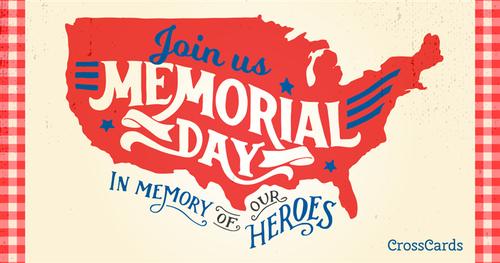 Memorial Day heroes ecard, online card