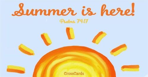 Summer sun ecard, online card
