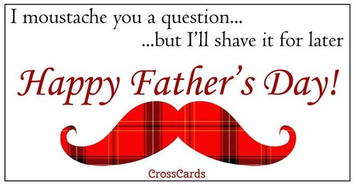 Father's Day moustache ecard, online card