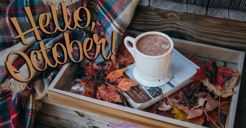 Hello October!  ecard, online card