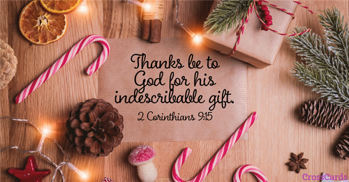 God's indescribable gift! ecard, online card