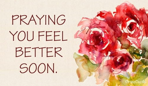 Praying You Feel Better Soon! ecard, online card