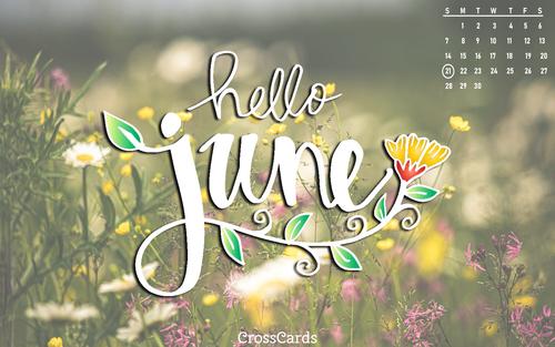 June 2020 - June Flowers ecard, online card