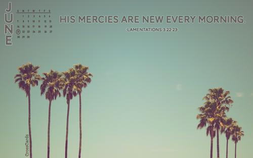 June 2020 - His Mercies ecard, online card