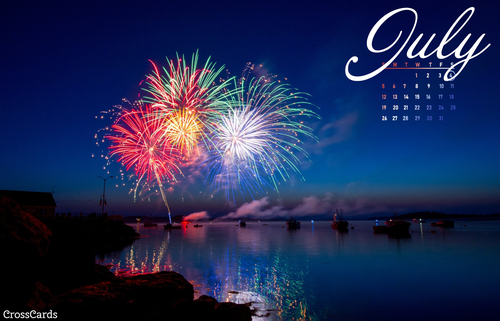 July 2020 - Fireworks ecard, online card