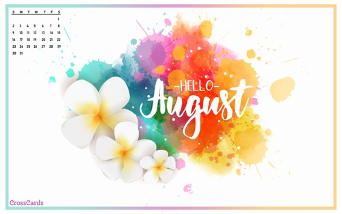 August 2020 - Hello August! ecard, online card