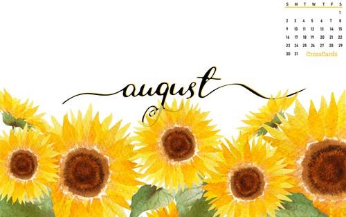 August 2020 - Sunflowers ecard, online card