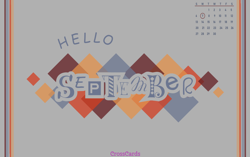 September 2020 - Hello September ecard, online card