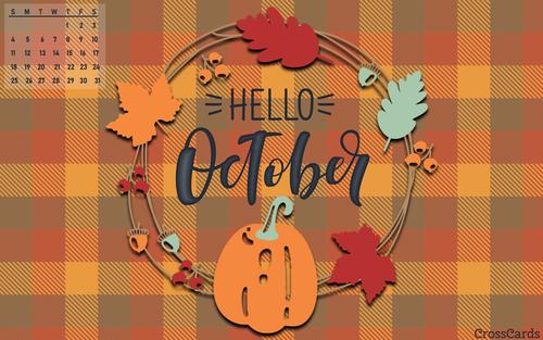 October 2020 - Hello October ecard, online card