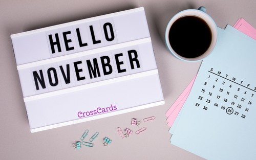 November 2020 - Hello November ecard, online card