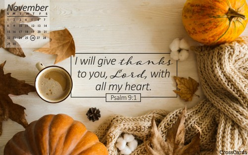 November 2020 - Psalm 9 ecard, online card