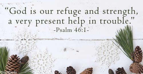 Psalm 46:1 - Our Refuge and Strength ecard, online card
