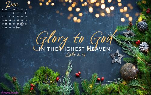December 2020 - Glory to God ecard, online card