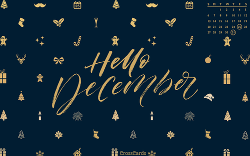 December 2020 - Hello December ecard, online card