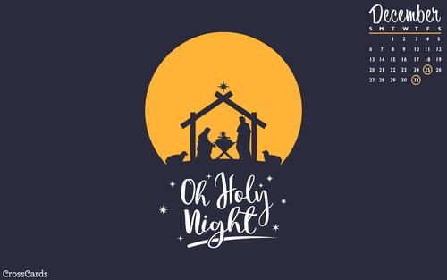 December 2020 - Holy Night ecard, online card
