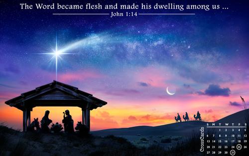 December 2020 - Nativity ecard, online card