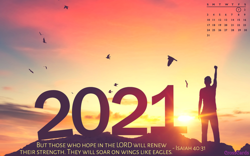 January 2021 - Hope in the Lord ecard, online card