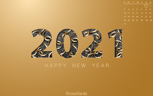 January 2021 - Happy New Year! ecard, online card