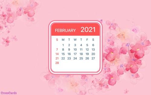 February 2021 - Flowers ecard, online card