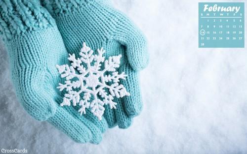 February 2021 - Snowflake ecard, online card