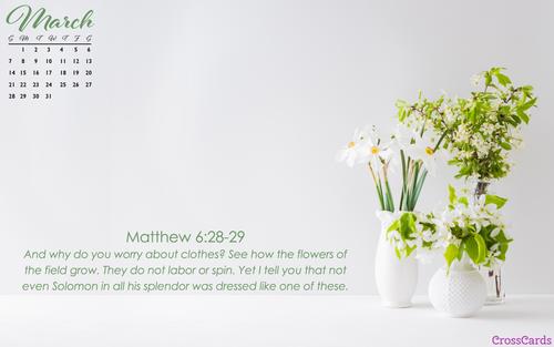 March 2021 - Matthew 6 ecard, online card