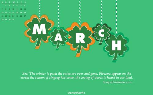 March 2021 - Shamrocks ecard, online card