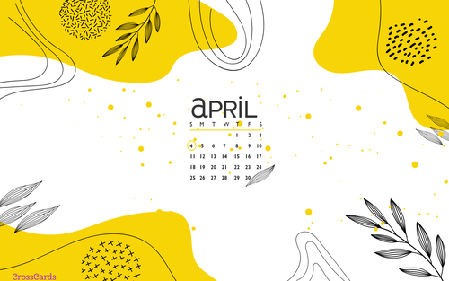 April 2021 - Abstract ecard, online card