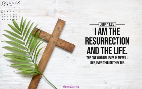 April 2021 - John 11:25 ecard, online card