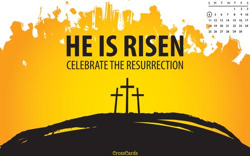 April 2021 - He Is Risen! ecard, online card