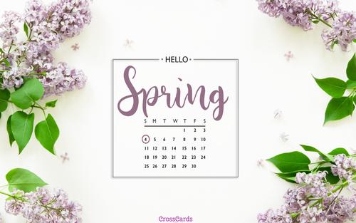 April 2021 - It's Spring! ecard, online card
