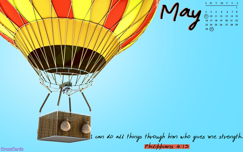 May 2021 - I Can Do All Things ecard, online card