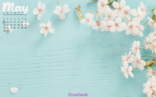 May 2021 - Floral ecard, online card