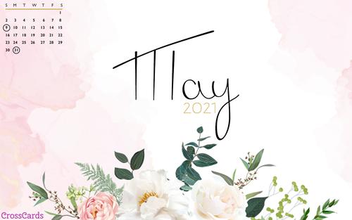 May 2021 - Pink Flowers ecard, online card