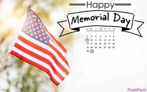 May 2021 - Memorial Day ecard, online card