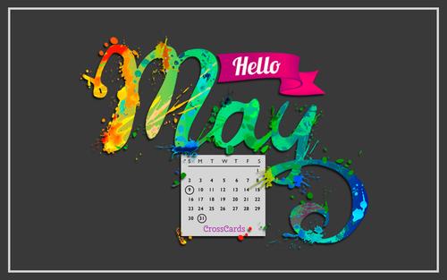 May 2021 - Hello May! ecard, online card