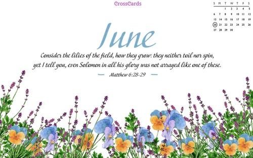 June 2021 - Flowers ecard, online card