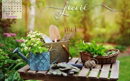 June 2021 - Gardening ecard, online card