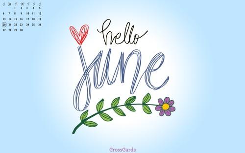 June 2021 - Hello June ecard, online card